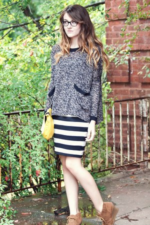 Karen Kane sweater - Von Maur skirt - TJ Maxx wedges