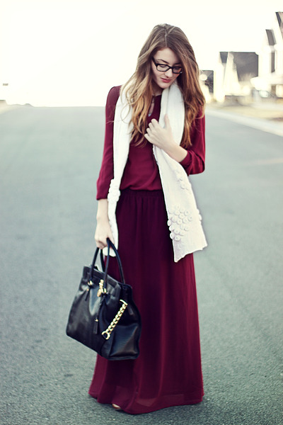 f21 skirt - Nepali by TDM scarf - Michael Kors purse - f21 blouse
