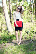 Marc by Marc Jacobs bag - elle shoes - Urban Outfitters sunglasses - H&M skirt