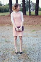 sequined H&M dress - vintage bag - vintage blouse - Steve Madden heels
