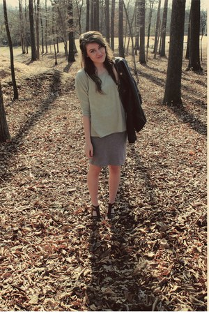 Target jacket - f21 shirt - c21 skirt - Target sandals