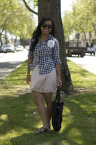 gingham Forever 21 shirt - lace dress Urban Outfitters dress