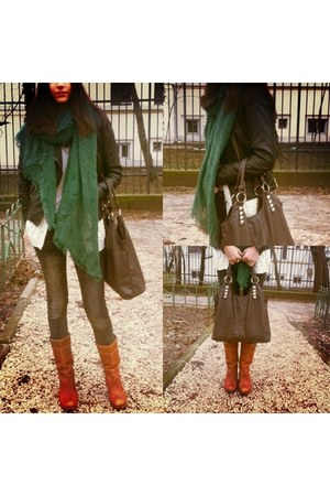 green Accessorize accessories - bronze Timberland boots - gray New Yorker jeans