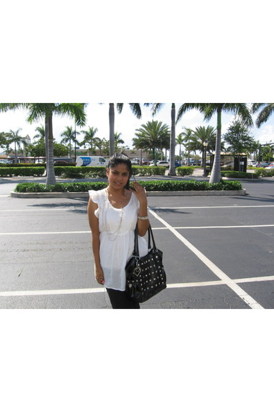 Marshalls blouse - Kmart bag - Forever21 bracelet - Jcpenny pants