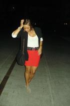 Zara belt - H&M skirt - Zara shoes - Urban Outfitters purse