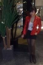 jacket - Mango shirt - accessories - leggings - boots - Zara purse