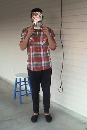 vintage shirt - Social Collision skinny jeans - TOMS shoes