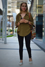 Olive-green-ericdress-blouse