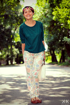 dark green cotton Terranova blouse