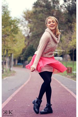 miniprix boots - Bershka dress - H&M blouse