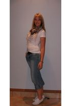 JET t-shirt - unknown jeans - Mr Price shoes - Mr Price scarf