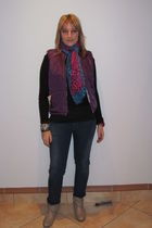 Mr Price top - Lee Cooper jeans - unknown vest - Mr Price shoes - Hang Ten scarf