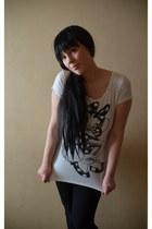 white Mango t-shirt - black Vero Moda jeans