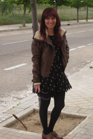 pull&bear romper - Zara shoes - H&M jacket - ray-ban sunglasses