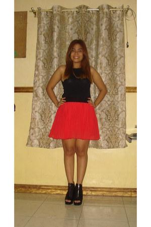 boots - top - skirt