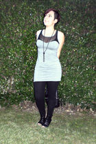 gray H&M dress - black H&M leggings