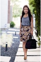 mustard paisley Loft skirt - mustard Forever 21 shoes