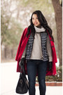 Red-wool-banana-republic-coat-navy-skinny-rag-bone-jeans