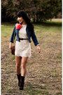 Off-white-chantilly-lace-forever-21-dress-brown-jessica-simpson-boots
