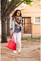 Gray Blazer + Plaid Scarf // Zara Giveaway!