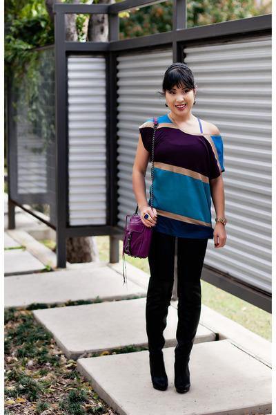 blue tank top Lululemon top - turquoise blue colorblock Express shirt