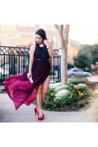 maroon Choies dress