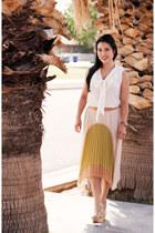 white Loft shirt - light pink fishtail Windsor Store skirt
