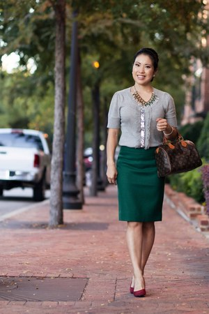 J Crew skirt - Forever 21 sweater - BP pumps