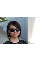 H&M earrings - Toxic sunglasses - H&M t-shirt