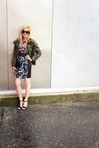 army green sashimi jacket - navy Love Ady dress - black Z Spoke by Zac Posen bag