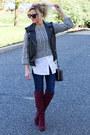 Shoemint-boots-sts-blue-jeans-thakoon-sweater-topshop-bag-topshop-vest