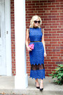 Navy-make-me-chic-dress-black-chanel-sunglasses