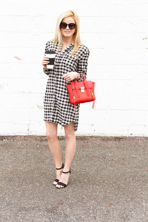 red 31 Phillip Lim bag - black Prima Donna shoes - black Forever 21 dress