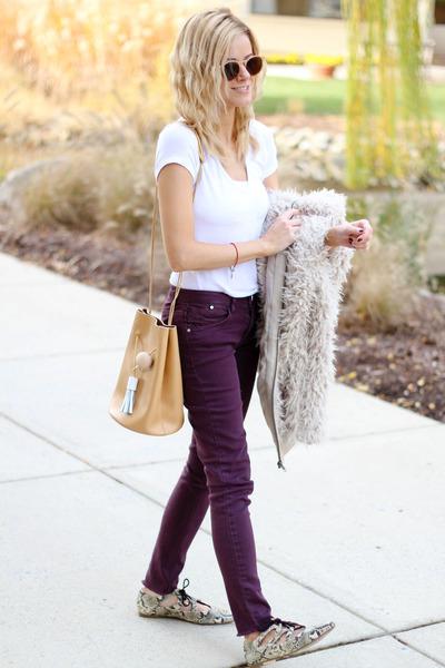 camel Ms Littles Bag bag - neutral BP coat - deep purple Fire Jeans jeans