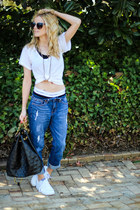 black house of harlow necklace - navy Jag Jeans jeans - black segolene paris bag