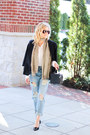 Sky-blue-sheinside-jeans-black-cotton-on-blazer