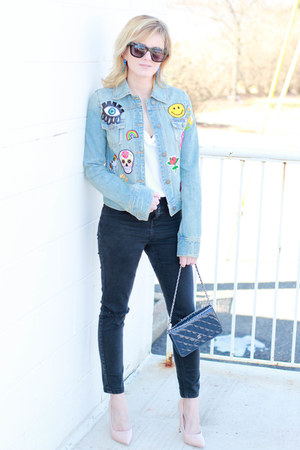 blue Target jacket - black Topshop jeans - navy Chanel bag