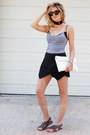 White-loeffler-randall-bag-black-sheinside-shorts-heather-gray-old-navy-top