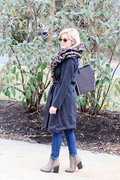 dark gray Hillary Radley coat - light brown Beast Fashion boots