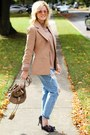 Light-blue-sheinside-jeans-tan-love-by-design-sweater-tan-missguided-blazer