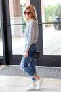 Navy-jag-jeans-jeans-dark-khaki-missguided-blazer-white-bag
