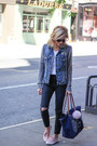 Topshop-jeans-navy-silver-jeans-jacket-longchamp-bag-old-navy-sneakers