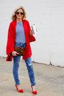 Red-stylemint-coat-blue-current-elliot-jeans-camel-emperia-bag