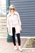light pink Forever 21 jacket - blue Vince Camuto bag