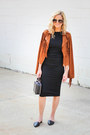 Black-topshop-dress-bronze-castro-fashion-jacket-black-topshop-bag