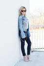 Black-topshop-jeans-blue-target-jacket-navy-chanel-bag