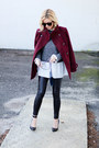 Crimson-thread-and-supply-jacket-gray-sheinside-sweater-navy-chanel-bag