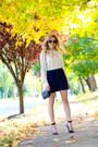 Navy-chanel-bag-tan-sheinside-blouse-navy-sheinside-skirt-navy-coach-heels