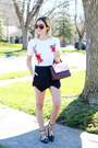 Maroon-kate-spade-bag-black-sheinsidecom-shorts-black-topshop-flats