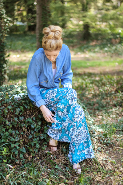 blue Stylus jacket - blue Worthington pants